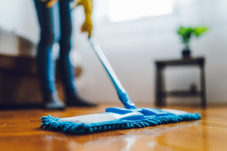 mop floor house cleaning living room